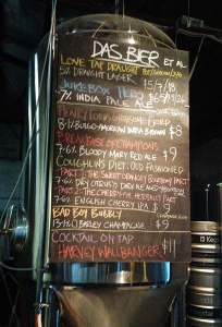 Moon Dog beer list