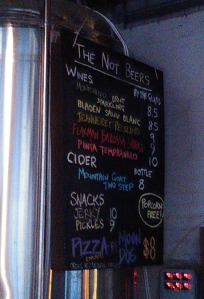 Moon Dog non beer list
